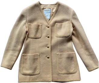 Chanel Orange Wool Jacket for Women Vintage