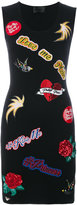 Philipp Plein appliqued dress - women - Cotton/Polyamide/Spandex/Elastane/glass - S