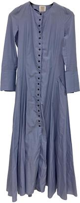 Rosie Assoulin Blue Cotton Dresses