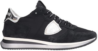Philippe Model Trpx Sneakers In Black Tech/synthetic
