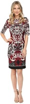 Christin Michaels Kyra Short Sleeve Scuba Dress