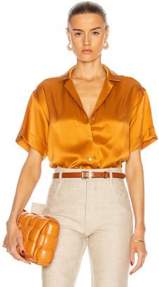 ASCENO The Prague Shirt in Caramel | FWRD