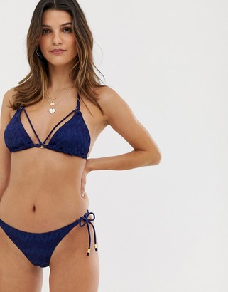 Dorina Majorca crochet bikini bottom in navy