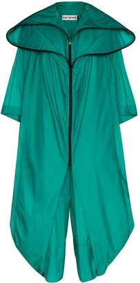 Issey Miyake Air Long Hooded Cape-Effect Jumpsuit