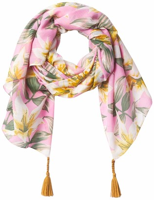 Tickled Pink Womens Anvi Floral Scarf