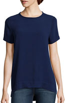 STYLUS Stylus Short-Sleeve Woven Shell Shirt - Tall