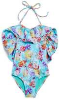 Peixoto Girls' Isabela Floral Oversize-Ruffle Swimsuit