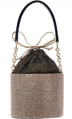 Judith Leiber Crystal Bucket Bag with Crossbody Strap