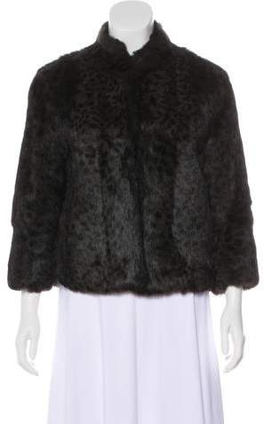 Adrienne Landau Long Sleeve Fur Jacket