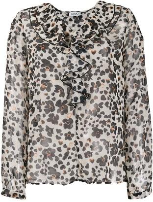 Liu Jo floral pattern ruffled blouse