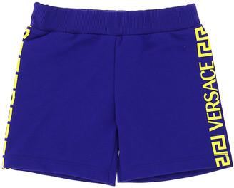 Versace Boy's Greek Key & Logo Track Shorts, Size 12-36M
