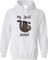 Tim And Ted My Spirit Animal Is A Sloth Lazy Sleepy Cute Hand Drawn Funny Hoodie