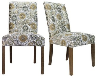 Bungalow Rose Cassian Sky Dive Cork Upholstered Dining Chair