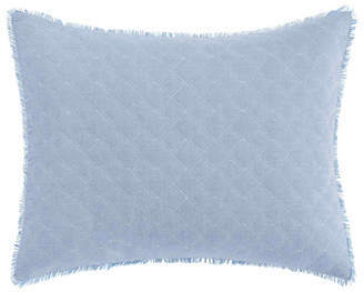 Laura Ashley Mila Chambray Blue Breakfast Pillow Bedding