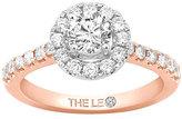 Leo Diamond 18ct Rose Gold 1ct Diamond Round Halo Ring