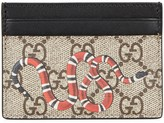 Gucci Gg Supreme Snake-print Card Holder