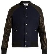 Ami Leather-sleeved Bomber Jacket