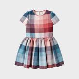 Paul Smith Girls' 2-6 Years Wool-Blend Pastel-Check Dress