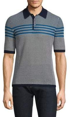 Salvatore Ferragamo Textured Cotton Polo