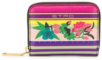 Etro Mini Floral-Print Wallet