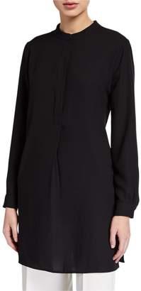 Anne Klein Long-Sleeve Tunic Shirt