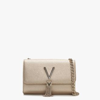 Valentino By Mario Valentino Divina Gold Pebbled Shoulder Bag