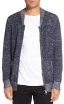 Michael Stars Men's Two-Way Zip Melange Sweater