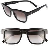 Salvatore Ferragamo Men's 51Mm Square Sunglasses - Black