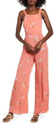 Billabong Still Here Floral Wide Leg Jumpsuit