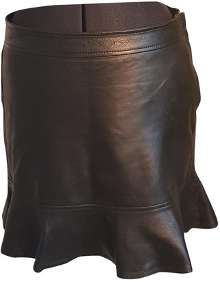 Diesel Black Gold Black Leather Skirt for Women