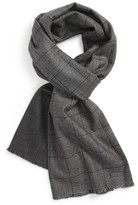 Hickey Freeman Men's Plaid Wool Scarf
