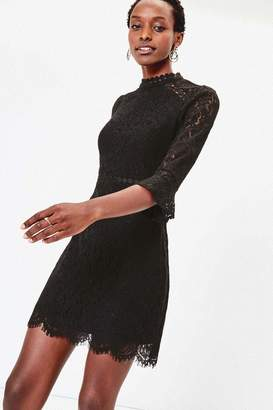 Oasis Womens Black Lace Shift Dress - Black