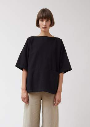 Black Crane Boat Neck Top