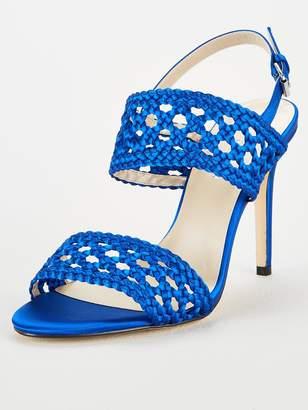 Karen Millen Weave 2 Strap Sandals - Blue