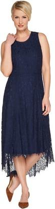 Isaac Mizrahi Live! Petite Hi-Low Lace Maxi Dress