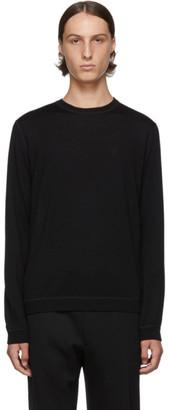 Prada Black Virgin Logo Crewneck Sweater