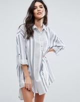 Vila Oversized Stripe Shirt Dress