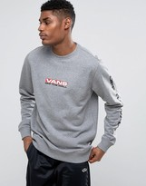 Vans Side Waze Sweat With Arm Print In Grey Va36kd02f