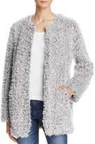 Aqua Teddy Bear Faux Fur Coat