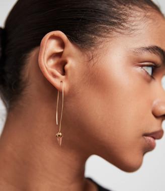 AllSaints Brigitte Gold-Tone Semi-Precious Crystal Quartz Drop Earrings