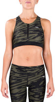 Running Bare Arabesque Zip Front Crop