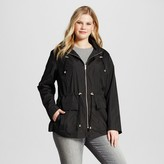 Ava & Viv Women's Rain Anorak with Jersey Lining Black