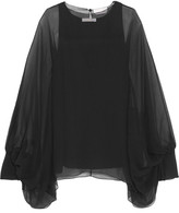Chloé Silk-mousseline Blouse - Black