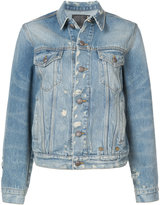 R 13 distressed denim jacket