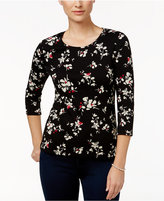 Charter Club Petite Floral-Print Top, Only at Macy's