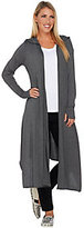Peace Love World As Is Jersey Knit Hooded Maxi Cardigan