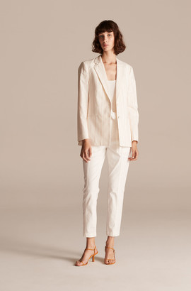Rebecca Taylor Tailored Stitched Stripe Blazer