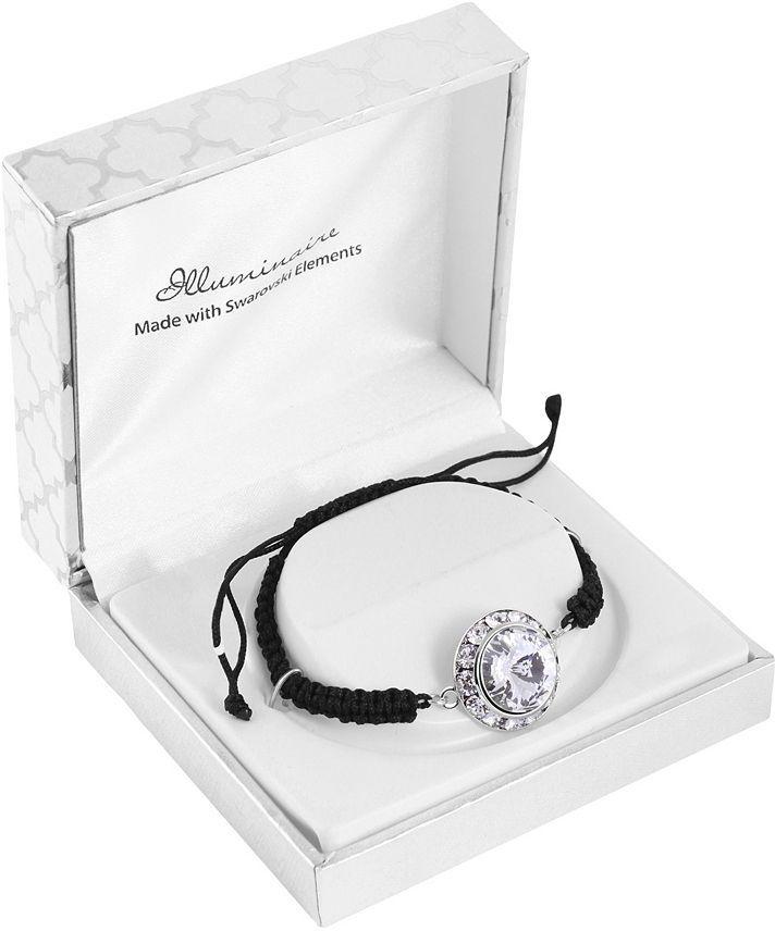 Illuminaire Silver-Plated Crystal Macrame Bracelet - Made With Swarovski Elements
