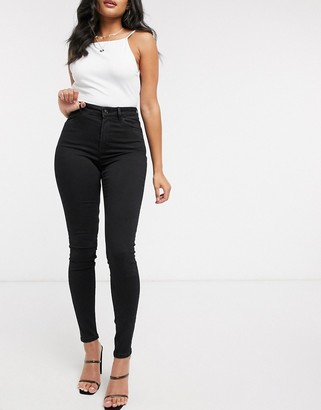 Pimkie super skinny high waisted jean in black
