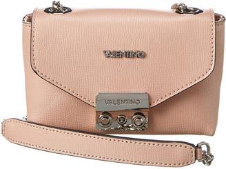 Valentino By Mario Valentino Lola Palmellato Gold Leather Crossbody
